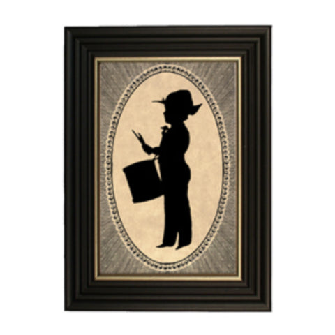 1864 Boy with Drum Silhouette - Farmhouse-Primitives