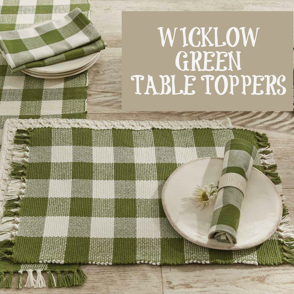 Wicklow Green Table Toppers - Farmhouse-Primitives