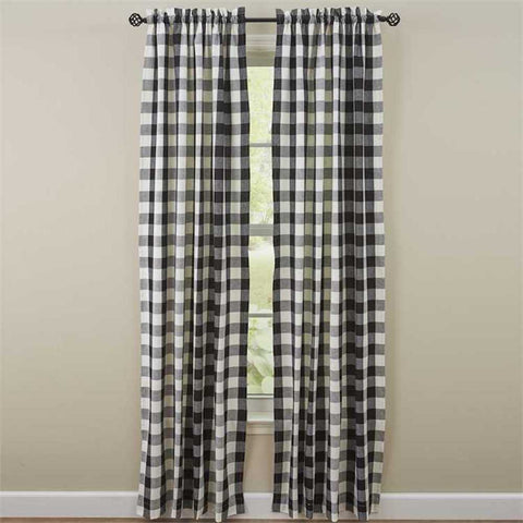 Wicklow Black and Cream Curtains - Farmhouse-Primitives