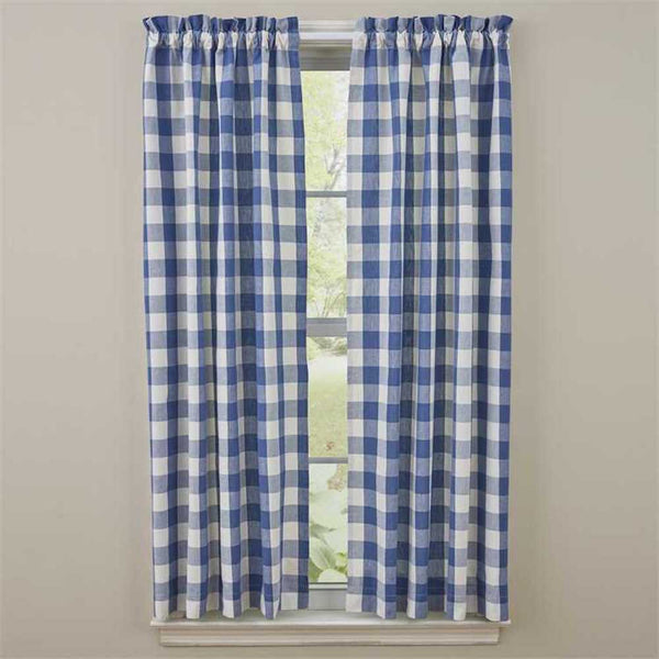 Wicklow China Blue Curtains - Farmhouse-Primitives