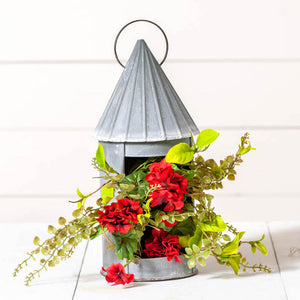 "14"" Round Lantern Weathered Tin - Farmhouse-Primitives"