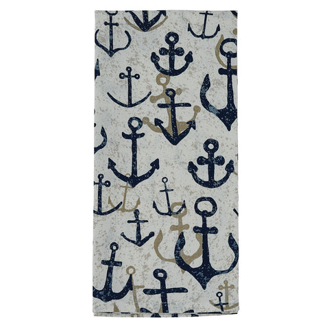 Wayward Anchors Dish Towel - Farmhouse-Primitives