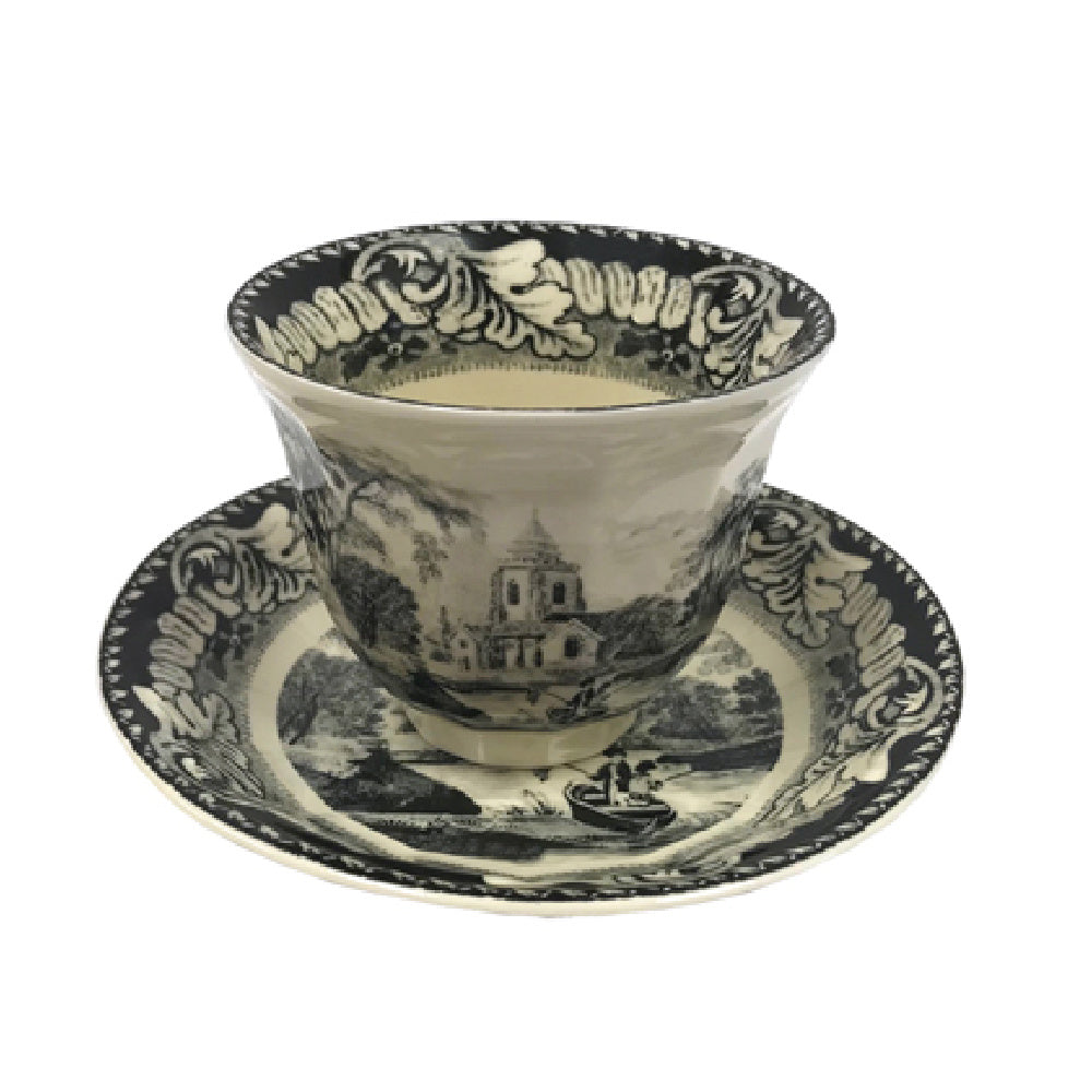 Early Teacup and Saucer - Farmhouse-Primitives