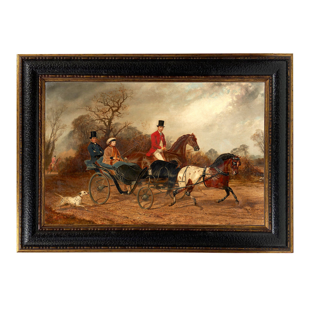 Lady Clifford-Constable Driving a Carriage - Farmhouse-Primitives