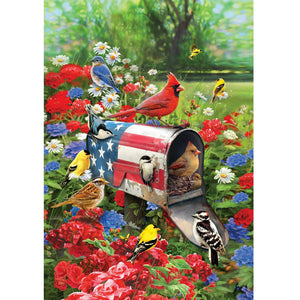 Songbirds Mailbox Garden Flag - Farmhouse-Primitives