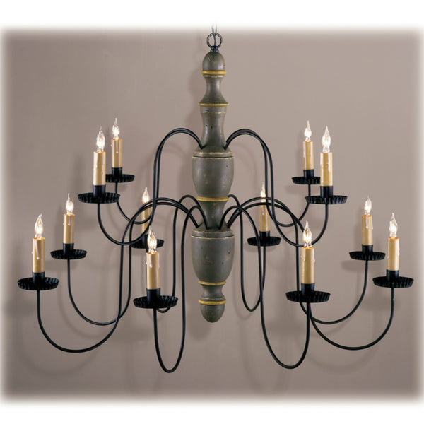Williamstown Turned Wood Chandelier - Farmhouse-Primitives