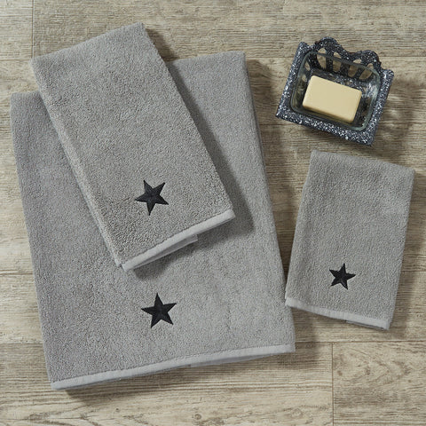 Black Star Towel SIZE CHOICE - Farmhouse-Primitives