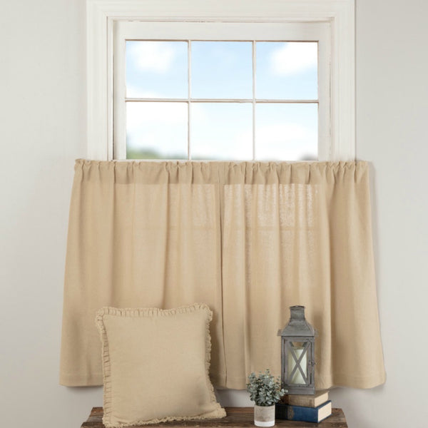 Burlap Curtains COLOR CHOICE - Farmhouse-Primitives