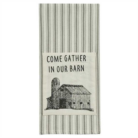 Come Gather Barn Towel - Farmhouse-Primitives