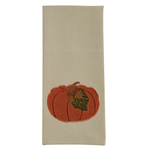 Pumpkin with Acorn Dish Towel - Farmhouse-Primitives