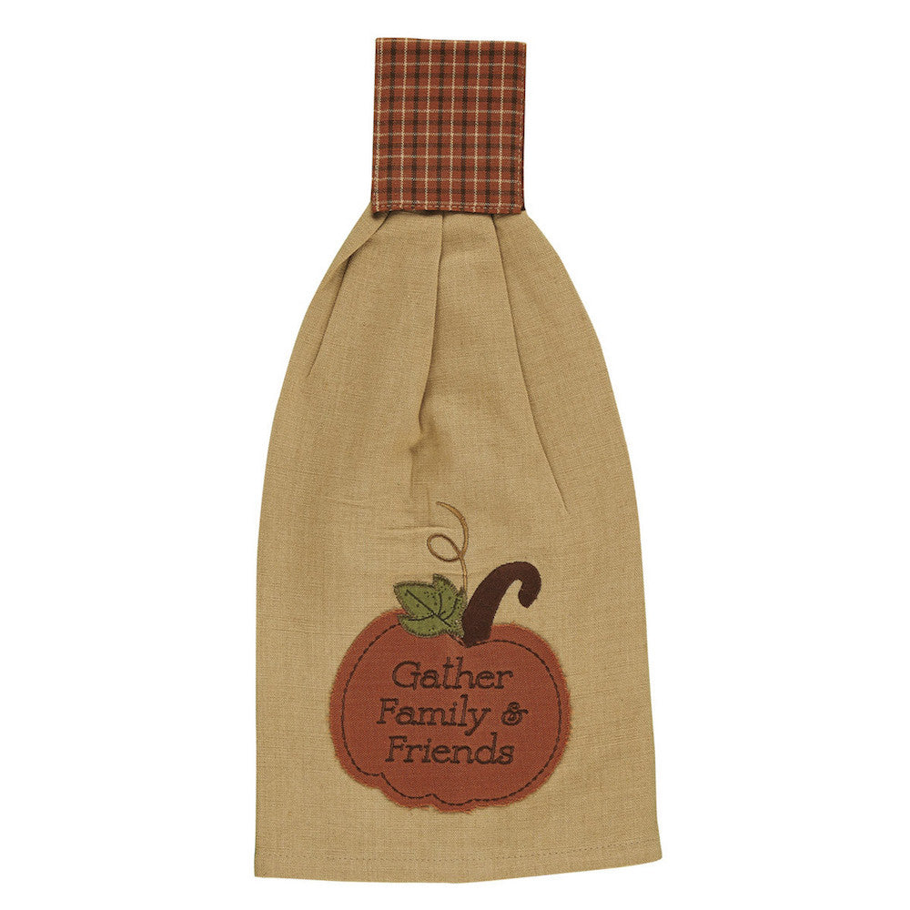 Pumpkin Patch Hand Towel - Farmhouse-Primitives