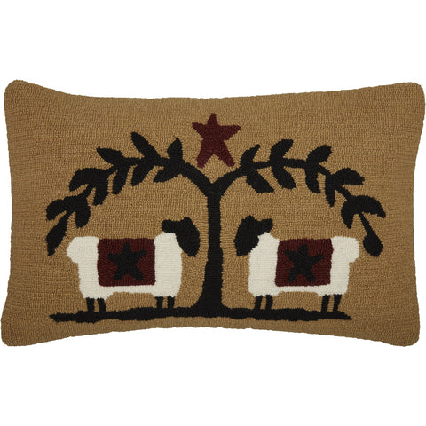 Heritage Farms Sheep and Star Pillow - Farmhouse-Primitives