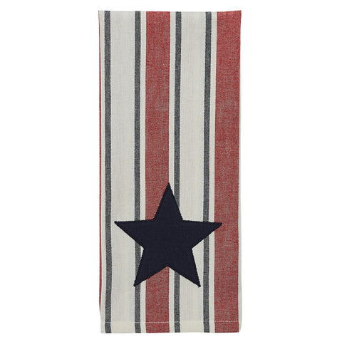 Stars and Stripes Black Star Dish Towel