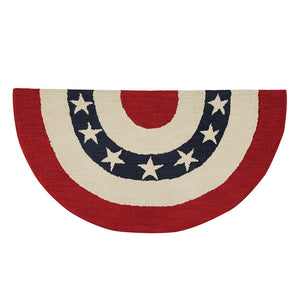 Americana Star Half Round Rug - Farmhouse-Primitives