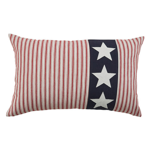 3 Star Americana Ticking Pillow - Farmhouse-Primitives