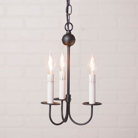 Westford 3 Arm Iron Chandelier - Farmhouse-Primitives