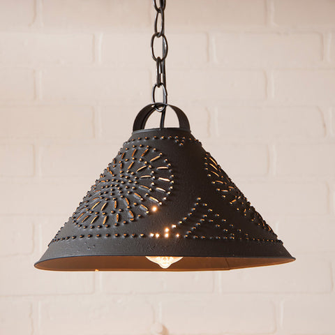 Hitchcock Shade Pendant Light - Farmhouse-Primitives