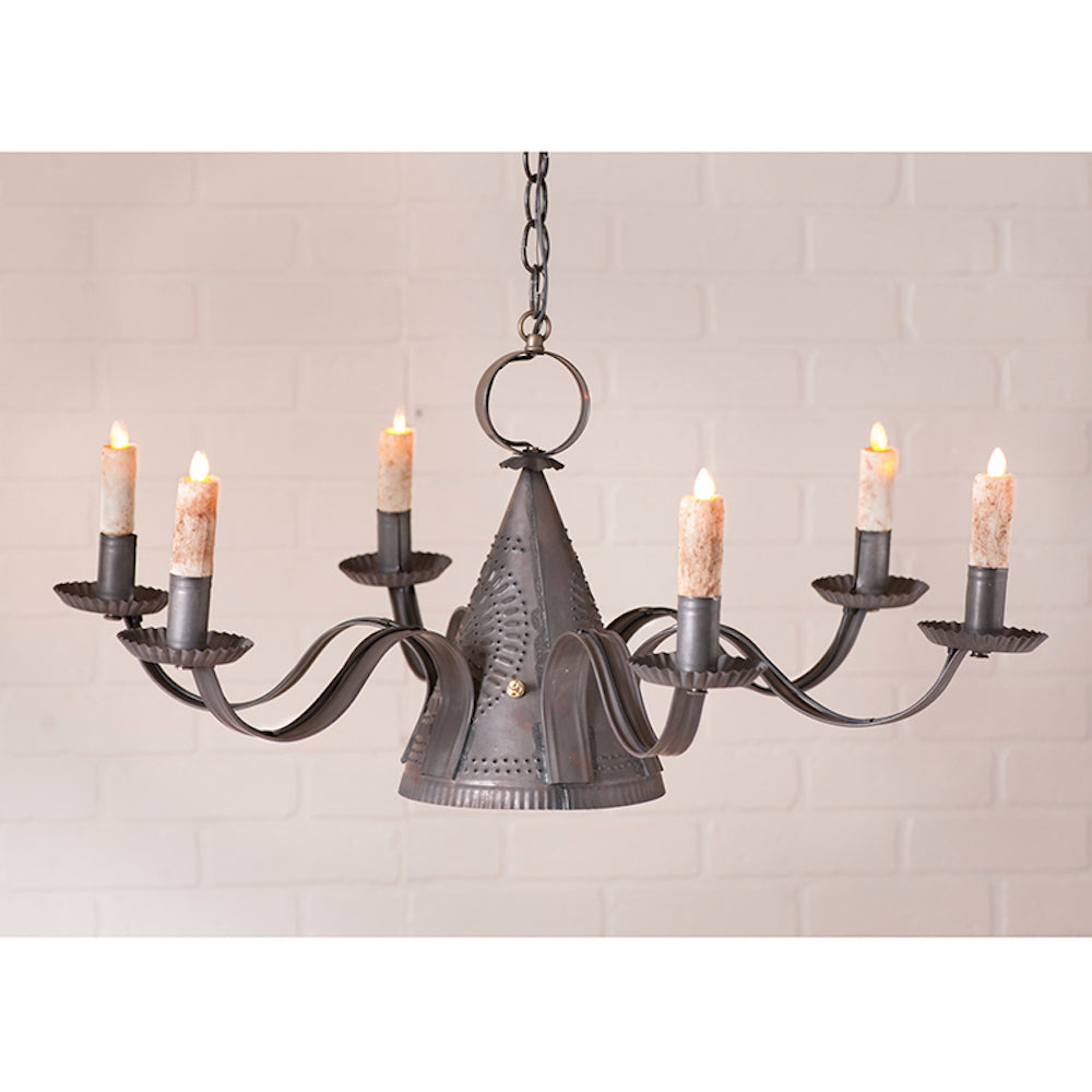 Mill House Chandelier for Electric Candles - Farmhouse-Primitives