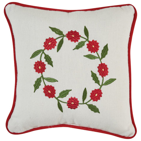 Greenhow Tartan Wreath Pillow - Farmhouse-Primitives