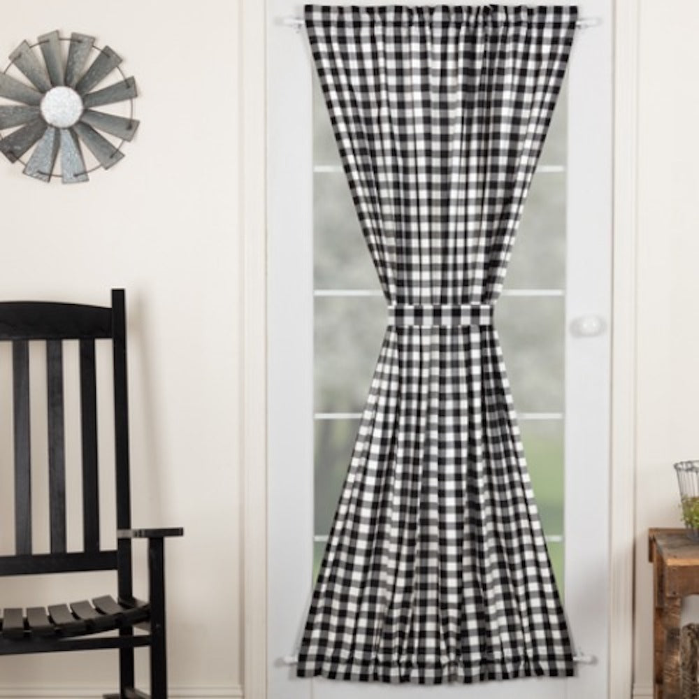Annie Black Buffalo Check Curtains - Farmhouse-Primitives