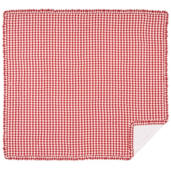 Annie Red Buffalo Check Bedding