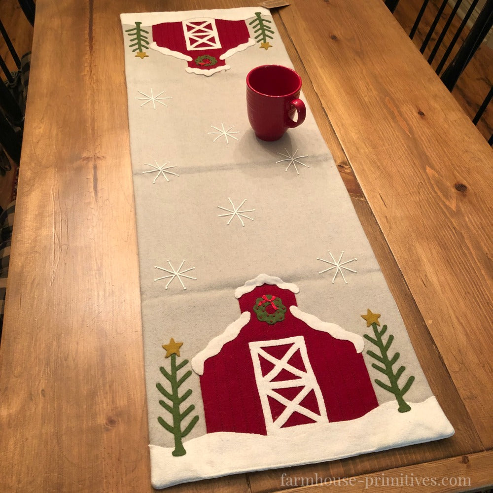 Holiday Barn Table Runner - Farmhouse-Primitives