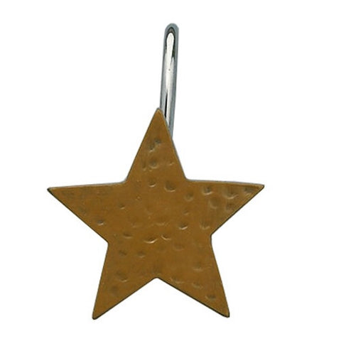 Mustard Star Shower Curtain Hooks