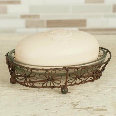 Oval Flower Soap Dish - Farmhouse-Primitives