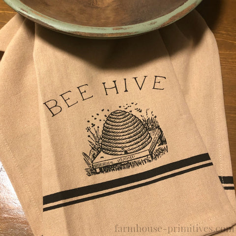 Beehive Dish Towel - Farmhouse-Primitives
