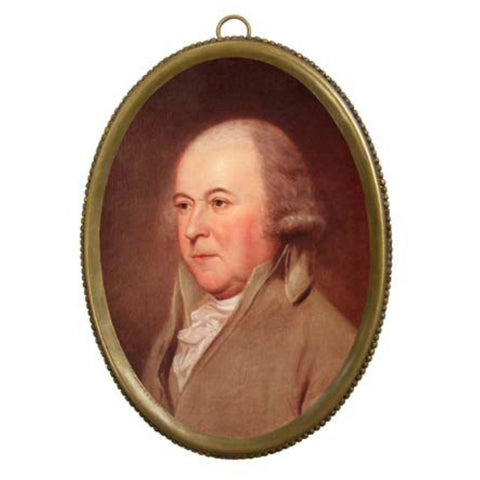 John Adams in Oval Frame - Farmhouse-Primitives