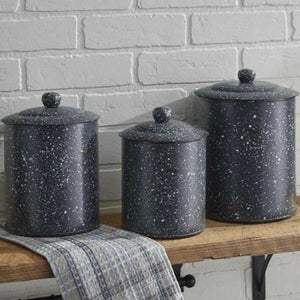 Gray Graniteware Canister SET
