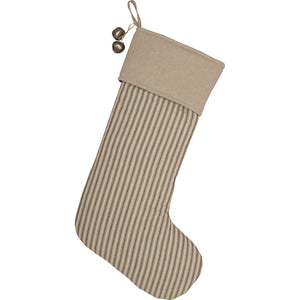 Ticking Stocking in Charcoal - Farmhouse-Primitives