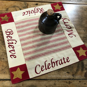 O Christmas Tree Table Mat - Farmhouse-Primitives