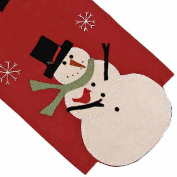 Snow Guy Table Runner - Farmhouse-Primitives