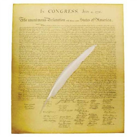 Declaration of Independence with Quill