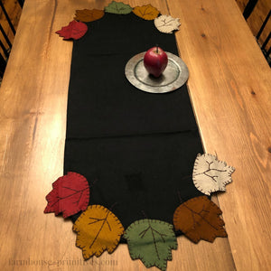 Fall Leaves Table Runner - Farmhouse-Primitives