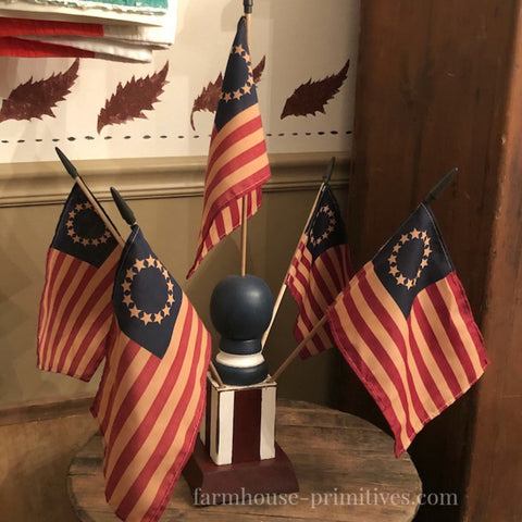 Betsy Ross Flag Finial - Farmhouse-Primitives