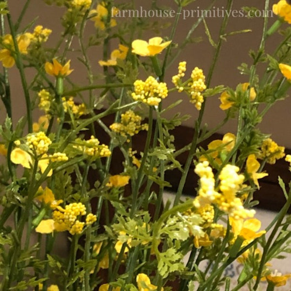 Yellow Day Blooms Bush - Farmhouse-Primitives