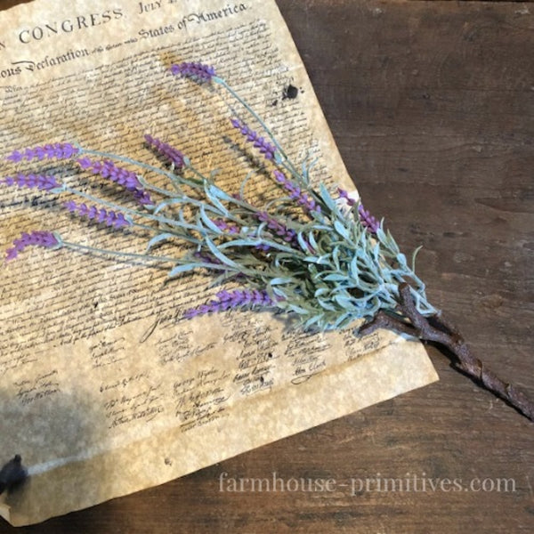 Lavender Stem - Farmhouse-Primitives