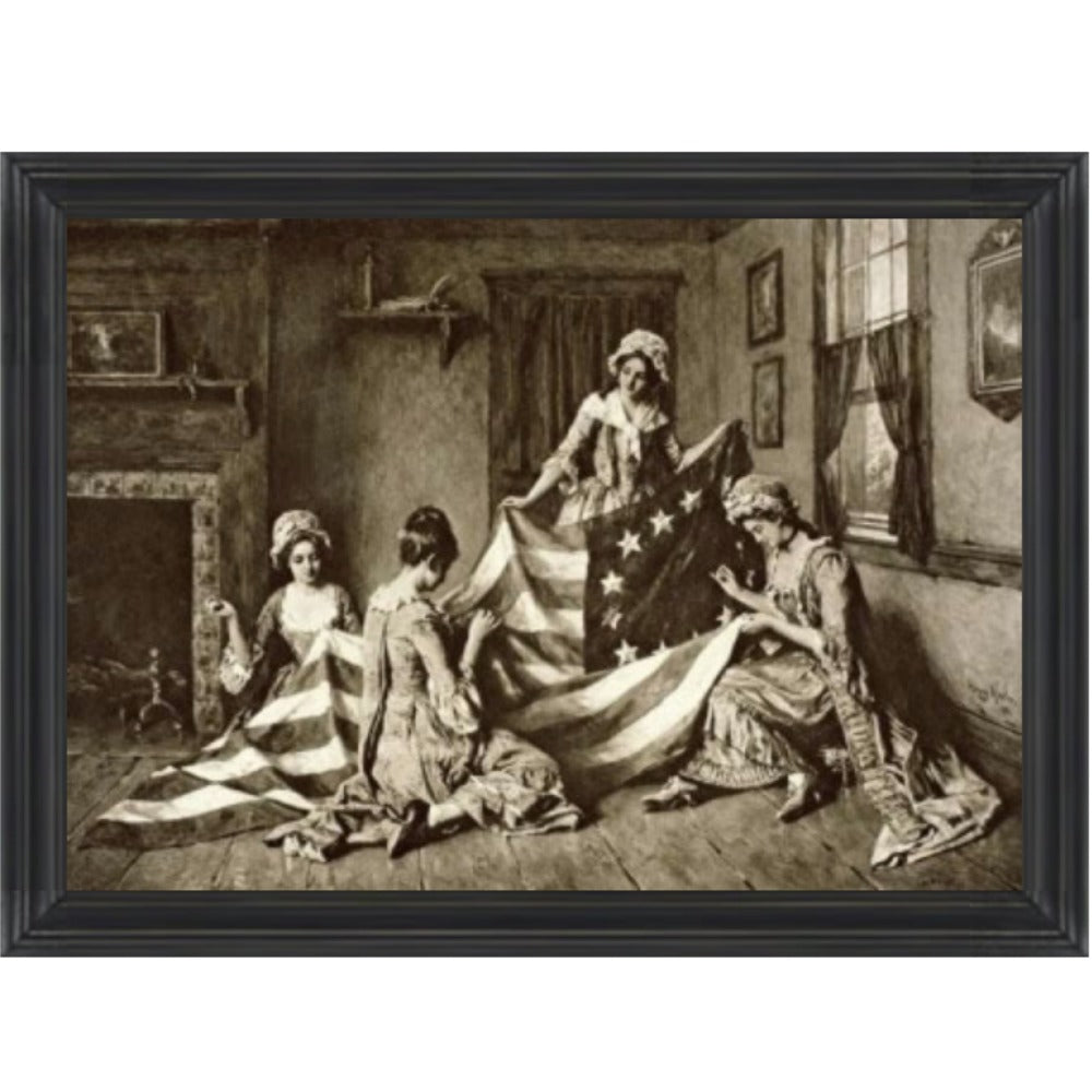 Betsy Ross Sewing Framed Print