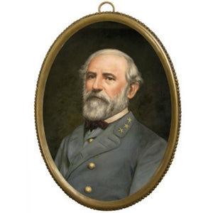 Robert E Lee Brass Oval