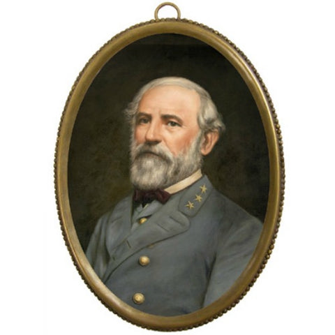 Robert E Lee Brass Oval - Farmhouse-Primitives