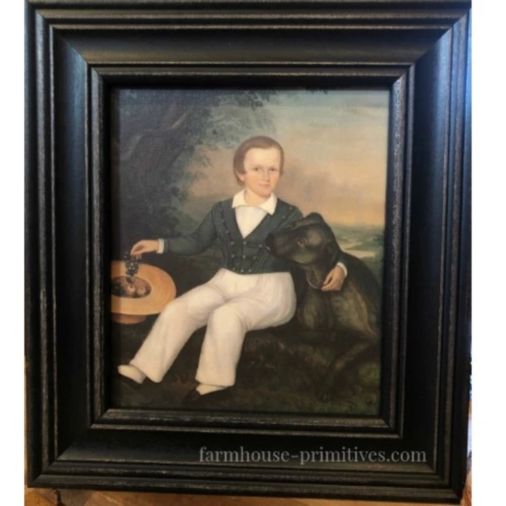 Portriat of Jasper Raymond Framed - Farmhouse-Primitives