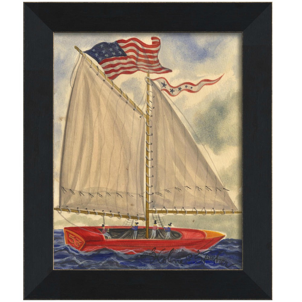 Sailboat no. 53 Framed - Farmhouse-Primitives