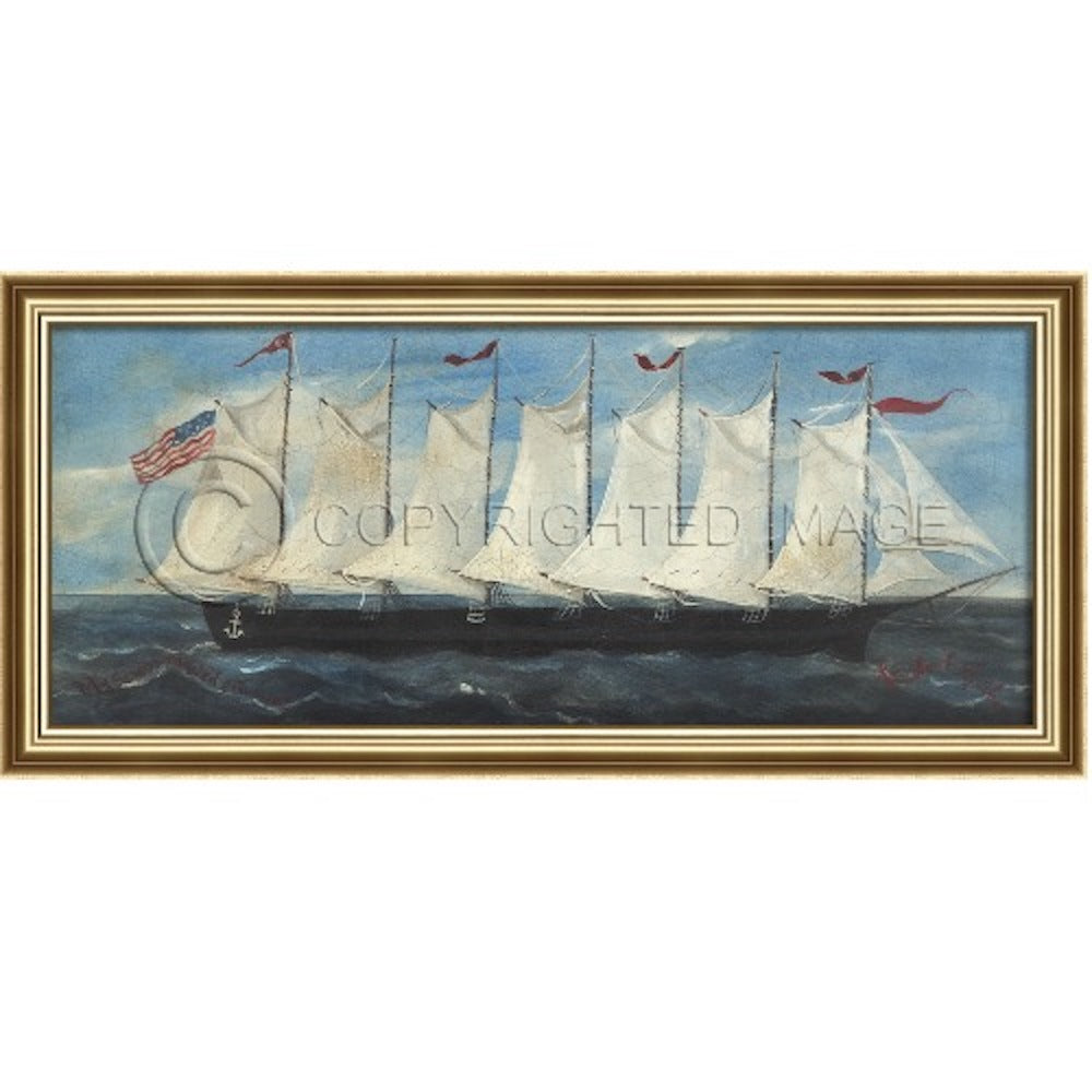 My Seven Masted Schooner Framed - Farmhouse-Primitives