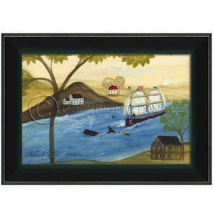 Whale Framed - Farmhouse-Primitives