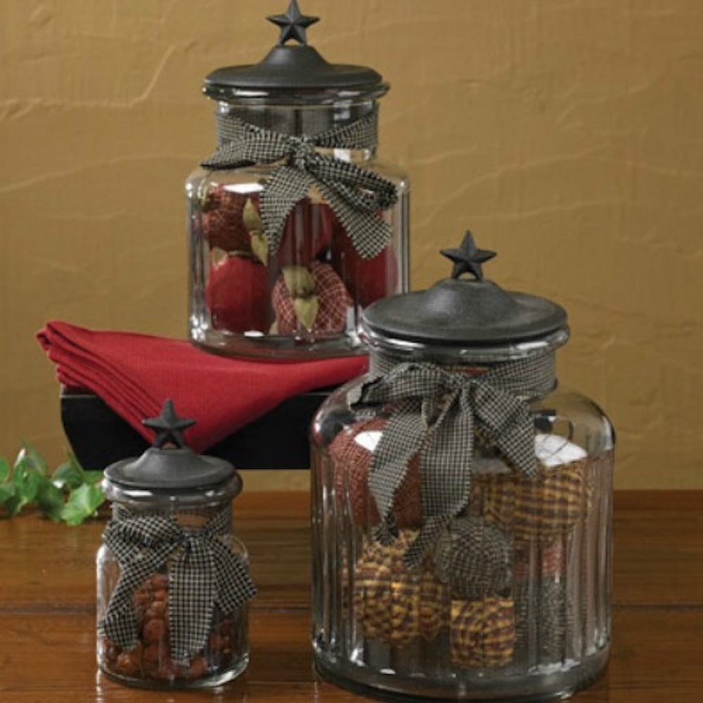 Black Star Lidded Jars - Farmhouse-Primitives