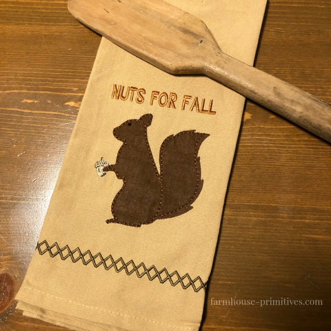 Nuts for Fall Dish Towel - Farmhouse-Primitives