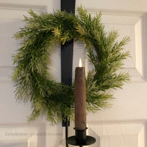 Iron Strap Over the Door Hanger for Wreath and Candle - Farmhouse-Primitives