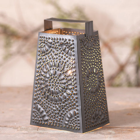 Cheese Grater Lamp - Farmhouse-Primitives